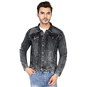 Ico Blue Stor Full Sleeve Solid Men Washed Denim Jacket