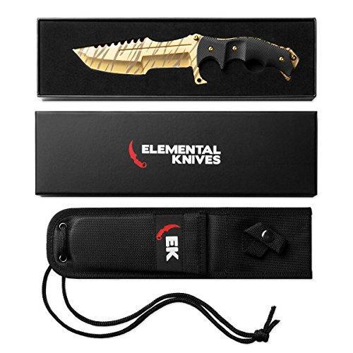 elemental knives tiger tooth huntsman real cs go knife counter strike csgo knives buy online. Black Bedroom Furniture Sets. Home Design Ideas