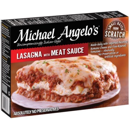 MICHAEL ANGELO'S LASAGNA WITH MEAT & SAUCE 11 OZ PACK OF 2