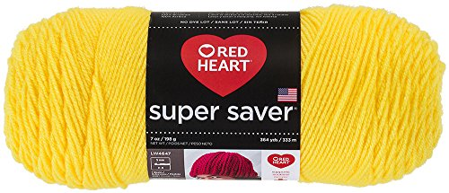 Red Heart Super Saver Economy Yarn, Bright Yellow
