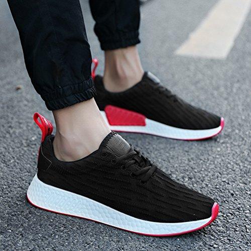 Erwachsenen Weiche für Frauen Gummi Trainer Unisex Sneakers Boden Atmungsaktive Männer Sport Outdoor Schwarz up Lace Schuhe Lauf dBgwBqz4
