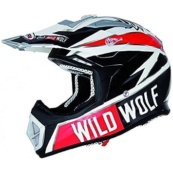 Casco moto cross SHIRO MX-912 WILD WOLF-Carcasa de fibra de carbono,