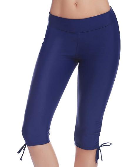 iClosam Pantalones Natacion Mujer Shorts de Baño Traje de Baño Bañador Deportivo Largo para Playa,Piscina,mar,bucear,Parque acuatico