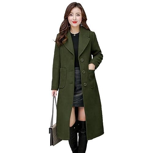 WanYang Mujer Abrigos Chaquetas para Invierno Abrigo Largos Chaqueta Acolchada Señora Coat Lana Capa...