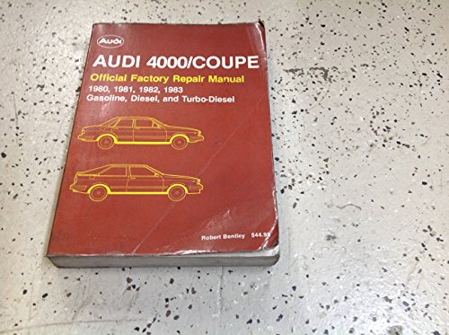 1980 1981 1982 1983 AUDI 4000 COUPE Workshop Service Shop Repair ()