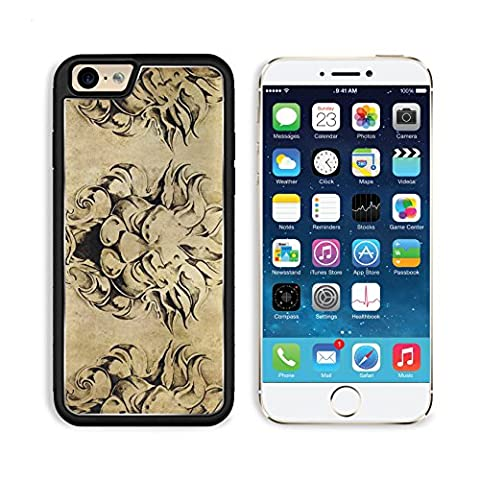 Apple iPhone 6 6S Aluminum Case Tattoo art sketch of a gargoyle over vintage background IMAGE 10425453 by MSD Customized Premium Deluxe Pu Leather generation Accessories HD Wifi Luxury (Gargoyle Sticker)