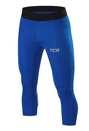 TCA Homme FX Laser Corsaire Collant de Compression 3 4 Running   Sport -  Bleu 80a171b0f6d