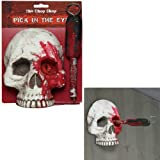 Skull Pick in the Eye Wall Halloween Decoration