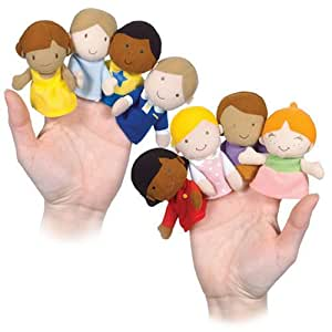 how to make family members finger puppets