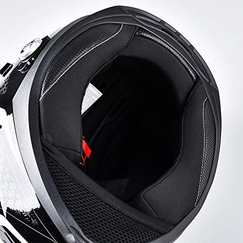 Bluetooth Motorcycle Helmet FreedConn DOT Full Face Bluetooth Helmets Motorcycle (Liner, XXL)