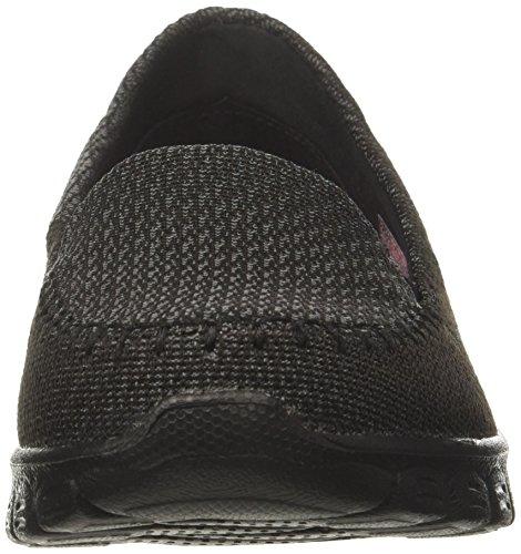 0 3 con Ez Punta Cerrada Mujer para Skechers Flex Negro Black Bailarinas qEnxtqZ4