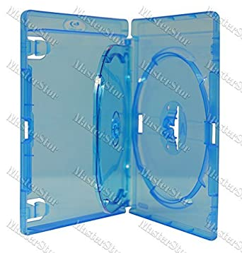 Amaray - Funda para 3 CD Blu-Ray/DVD (15 unidades)