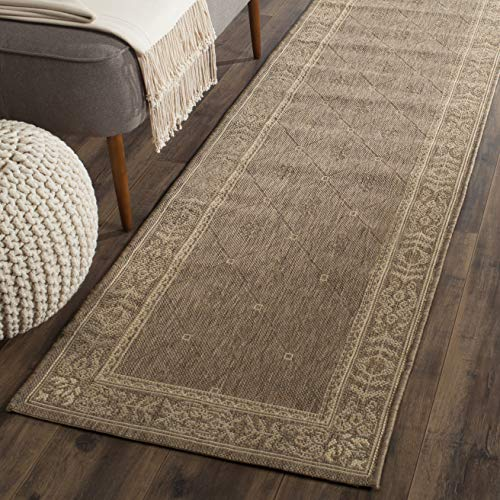 (Safavieh Courtyard Collection CY2326-3009 Brown and Natural Indoor/ Outdoor Area Rug (2'7