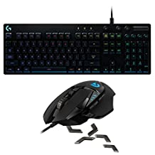 Logitech G502 Proteus Spectrum RGB Tunable Gaming Mouse + Logitech G810 Orion Spectrum RGB Mechanical Gaming Keyboard