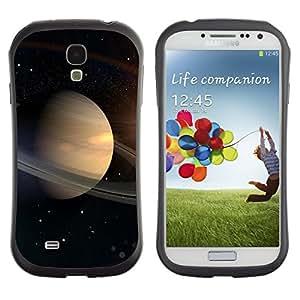 Paccase / Suave TPU GEL Caso Carcasa de Protección Funda para - Saturn Rings Space Universe Cosmos Stars Solar - Samsung Galaxy S4 I9500