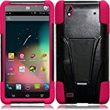 zte quartz protective phone case - ZTE Quartz Z797c (Straight Talk, Tracfone , Net 10) Case, C-cover ZTE Quartz Z797c Premium Durable Rugged Shell Hybrid Protective Phone Case Cover with Built in Kickstand (PINK)