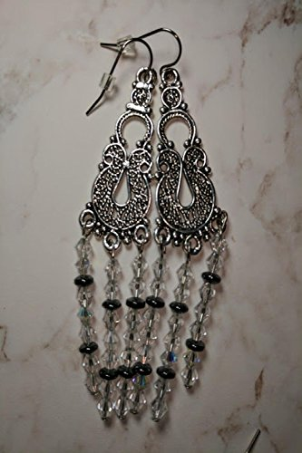 Lace and Crystal Earrings (Lace Marcasite)