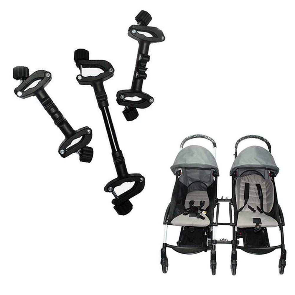 osierr6 Stroller Connector 3pcs Adjustable Joint Portable Universal Safety Quick Release Accessories Linker Easy Use Hook Pram Twins Pushchair Coupler Bush
