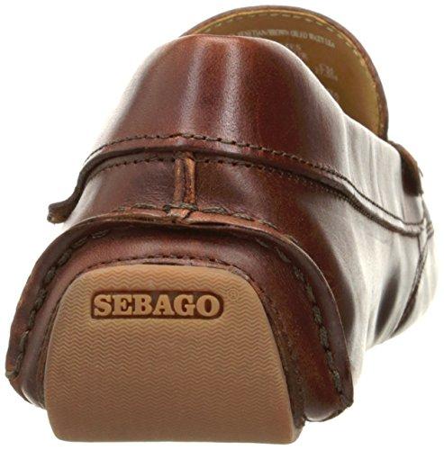 ... Sebago Menns Kedge Venetianske Slip-on Dagdriver Brun Oljet Voksaktig  Skinn ...