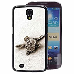 A-type Arte & diseño plástico duro Fundas Cover Cubre Hard Case Cover para Samsung Galaxy Mega 6.3 (Turtle Baby Cute Sand Sea Animal Marine)
