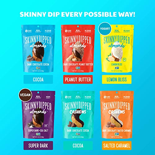 SKINNYDIPPED Fan Favorites Almond Variety Pack, 3.5 oz. Bags, 5 Count