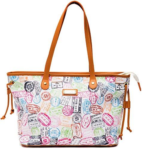 Borsa White EVER117D004B Martini Spalla Bag Leather Shopping Donna Laccio Cuoio Woman Alviero Bianco RRxfwCrqp