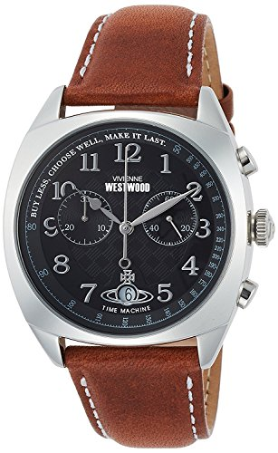 Vivienne Westwood watch HAMPSTEAD black Dial brown leather Chronograph Quartz VV176BKTN Men's parallel import goods]