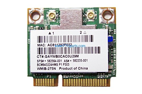 Oem Hp Mini - Genuine OEM HP Broadcom A/B/G/N 300mbs H-Mini Wireless card 582564-001