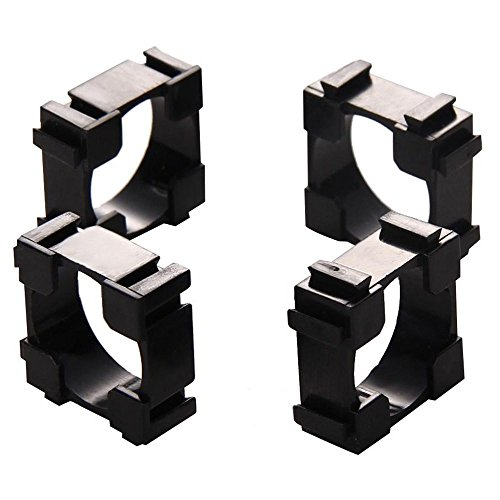 TOOGOO 100pcs 18650 Battery Pack Spacer Radiating Shell Plastic Holder Bracket 18.3mm