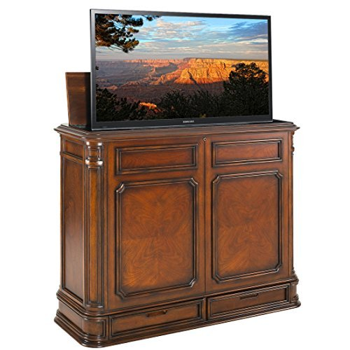 TVLiftCabinet Crystal Pointe  TV Cabinet, Brown