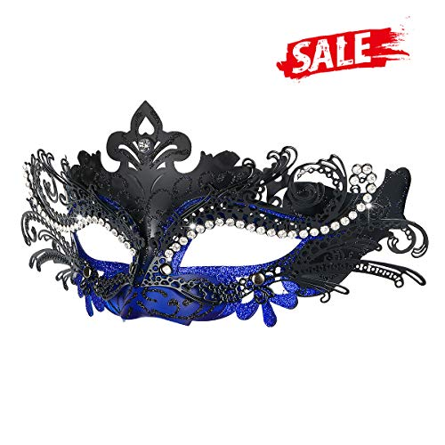 Hoshin Masquerade Mask, Mardi Gras Deecorations Venetian Masks for Womens (Blue & -