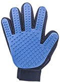 The Woof Pet Grooming Glove - Gentle Dog & Cat Grooming Glove - Hand Brush for Pet Hair Removal - Fur Remover (Right Handed)