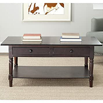 Safavieh American Home Collection Dover Coffee Table, Dark Cherry