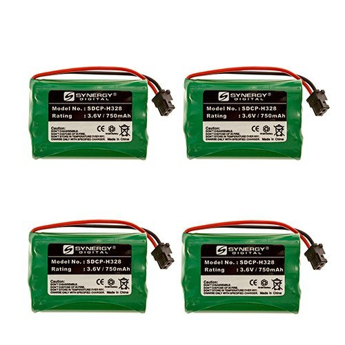 Rayovac RAYM182 Cordless Phone Battery Combo-Pack includes: 4 x SDCP-H328 Batteries (Rayovac Cordless Battery)