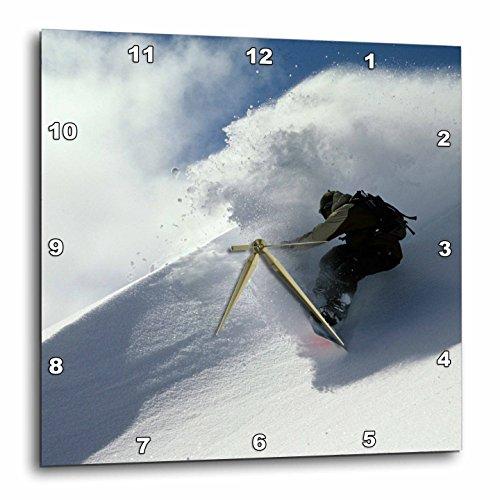 3dRose Snowboarding, Mt Baker, Washington US48 SMA0064 Stephen Matera Wall Clock, 13 by 13″ For Sale