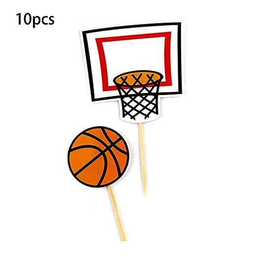 Mayoaoa - 20 piezas de decoración para tartas de baloncesto ...