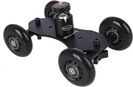 Koolertron - Soporte con ruedas + Rotula tripode para cámaras ...