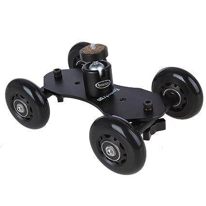 Koolertron - Soporte con ruedas + Rotula tripode para cámaras réflex, videocámaras y cámaras de