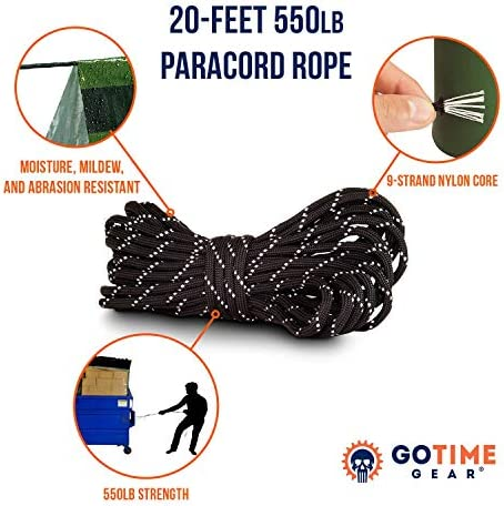 Go Time Gear Life Tent Emergency Survival Shelter – 2 Person Emergency Tent – Use As Survival Tent, Emergency Shelter, Tube Tent, Survival Tarp - Includes Survival Whistle & Paracord 4
