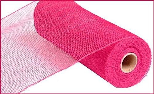 10 inch x 30 feet Deco Poly Mesh Ribbon - Value Mesh (Hot Pink) -