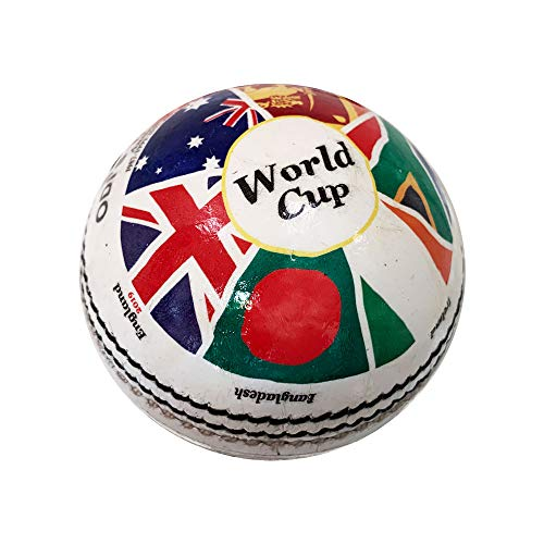 Cricket World Cup History Cricket Ball 2019 Edition (5.5 oz Weight) (Best Cricket Ball Brand In India)