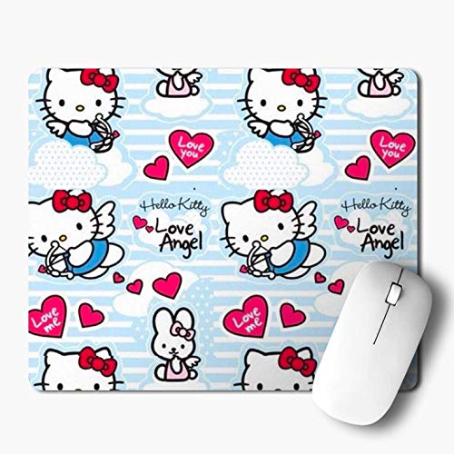 iKraft Hello Kitty Love Printed Mouse Pad- Rubber Mouse Pad- 180x220x3mm