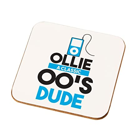 Personalised 00s Dude Drinks Coaster Teenage Boy Birthday Gift Ideas Born In The Noughties