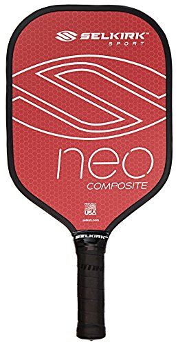 - Selkirk NEO Composite Pickleball Paddle - USAPA Approved - PowerCore Polymer Core - Composite Surface - EdgeSentry Protection - ThinGrip Handle - Pickleball Racket/Racquet. (Red)