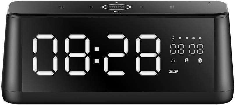 Altavoz Bluetooth, MIFA A30 Altavoz Portátil 30W con LED Pantalla y Reloj, Sonido Digital 3D, Sonido Estéreo TWS y DSP, Micrófono Incorporado, Ranura para Tarjeta TF, Entrada Auxiliar 3,5mm, Negro