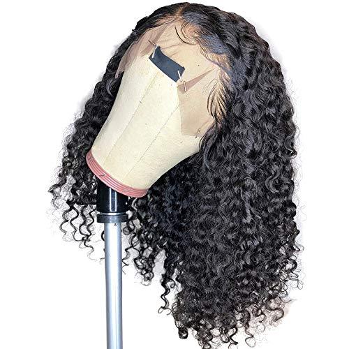 Short Curly Lace Front Wigs Human Hair Bob - Bob Curl