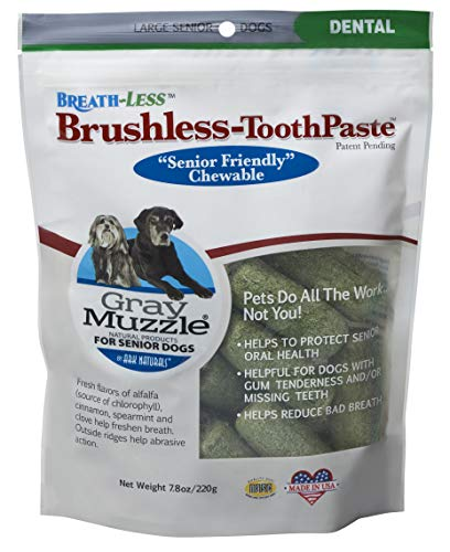 Ark Naturals Brushless Toothpaste, Vet Recommended Natural Dental Chews for Dogs, Plaque, Tartar and Bacteria Control (Best Diet For Morbidly Obese)
