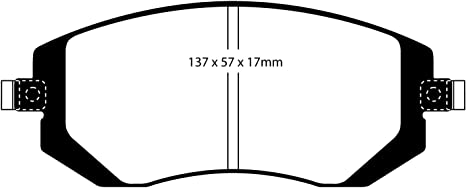 EBC BLUESTUFF BRAKE PADS REAR DP51293NDX TRACK, SPORT, RACE