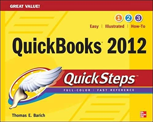 quickbooks 2012 quicksteps quick guides thomas a barich rh amazon com QuickBooks Online Screenshots 2014 W-2 Form Printable