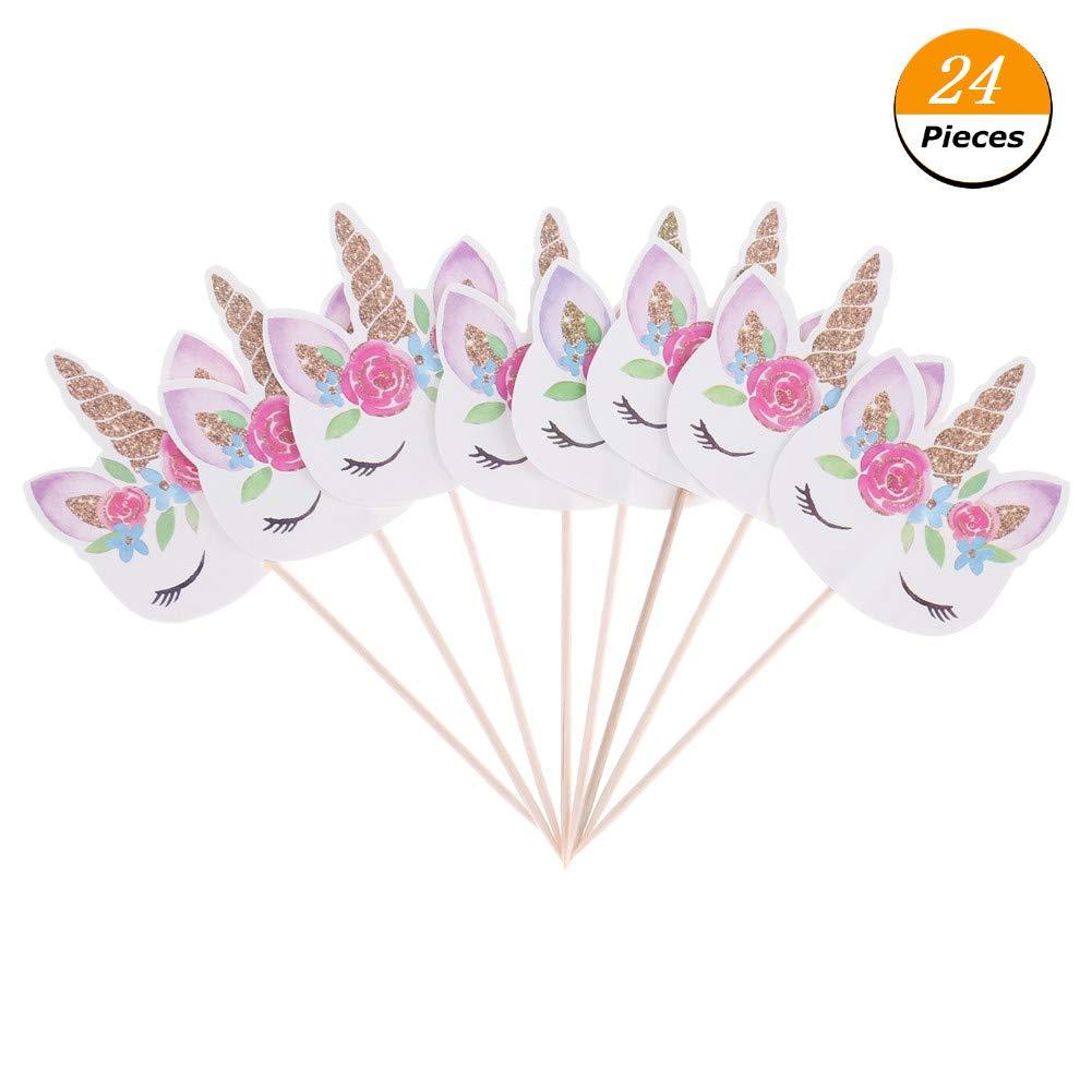 Amazon.com: cianowegy unicornio Cupcakes Multicolor lindo ...